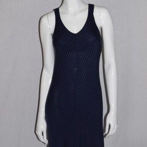 Kenar Blue Striped Racer Back Maxi Dress